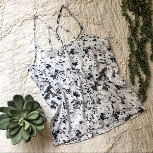 Hurley Strappy Black and White Tank Top
